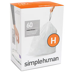 simplehuman® Custom-Fit Trash Can Liners Code H - 60-pack
