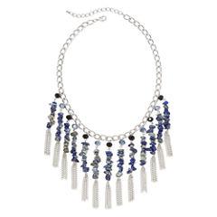 Mixit™ Blue Stone Shaky Necklace