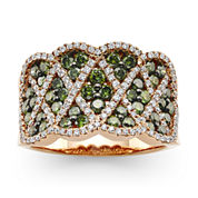 LIMITED QUANTITIES LeVian Grand Sample Sale Exotics® 1 CT. T.W. White and Color-Enhanced Green Diamond Ring