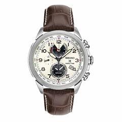 Seiko Mens Brown Strap Watch-Ssc509