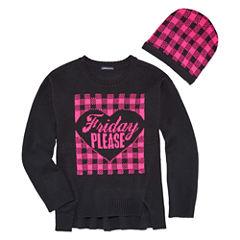 Limited Too Long Sleeve Hearts Sweatshirt - Big Kid Girls