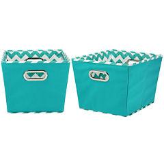 Household Essentials® Set of 2 Medium Tapered Storage Bins