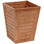 Household Essentials® Bamboo Slatted Trash Can