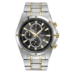 Citizen® Mens Two-Tone Black Dial Chronograph Watch  AN3534-51E