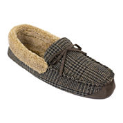 Dockers® Premiere Mens Plaid Memory Foam Moccasin Slippers