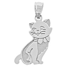 Sterling SIlver Cat Charm Pendant