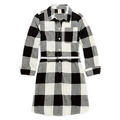 Arizona Long Sleeve Shirt Dress - Big Kid Girls