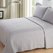 Johnson Home Waffle Jersey 3-pc. Quilt Set