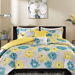 Intelligent Design Mila Floral Duvet Cover Set