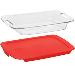 Pyrex® Easy Grab 3-qt. Baking Dish with Red Plastic Cover