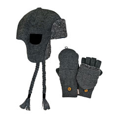 MUK LUKS® 2-pc. Sherpa-Lined Trapper Hat and Flip Gloves Set