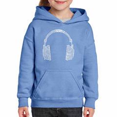 Los Angeles Pop Art 63 Different Genres Of Music Long Sleeve Sweatshirt Girls