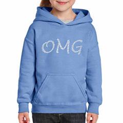 Los Angeles Pop Art Omg Long Sleeve Sweatshirt Girls