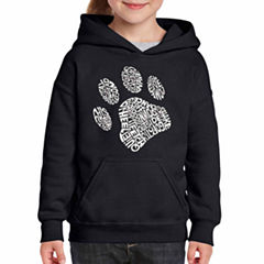 Los Angeles Pop Art Dog Paw Long Sleeve Sweatshirt Girls