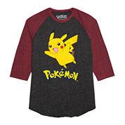 Pikachu 3/4-Sleeve Raglan Shirt