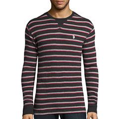 U.S. Polo Assn.® Long-Sleeve Striped Thermal Shirt