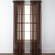 Liz Claiborne® Lisette Rod-Pocket Sheer Panel