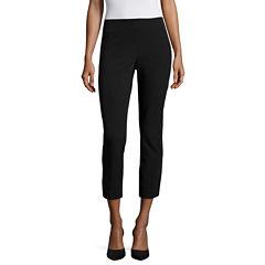 Worthington® Slim-Fit Flare-Leg Cropped Pants - Tall