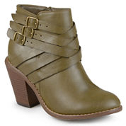 Journee Collection Strap Ankle Booties