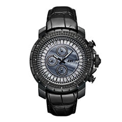 JBW Black Ion-Plated Stainless Steel Titus Mens Black Strap Watch-J6347l-D