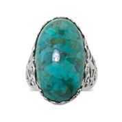 Enhanced Turquoise Sterling Silver Filigree Ring
