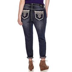 Love Indigo Bling Skinny Jeans - Plus