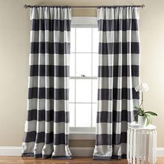 Stripe 2-Pack Room Darkening Curtain Panel