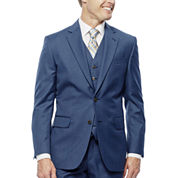 Stafford Travel Stretch Mid Blue Slim Fit Suit Jacket