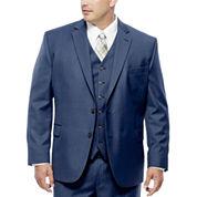 Stafford® Travel Medium Blue Suit Jacket - Portly Fit