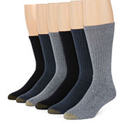 Gold Toe® 6-pk. Harrington Casual Crew Socks
