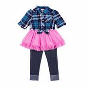 Little Lass® Flannel Tutu Set - Toddler Girls 2t-4t