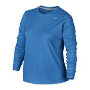 Nike® Long-Sleeve Miler Tee - Plus
