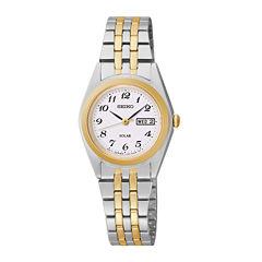 Seiko® Womens Two-Tone Solar Watch SUT116