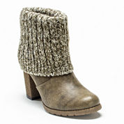 MUK LUKS® Chris Womens Knit Cuff Ankle Booties