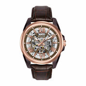 Bulova Mens Brown Strap Watch-98a165