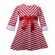 Bonnie Jean Long Sleeve Fitted Sleeve Empire Waist Dress - Baby