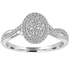 I Said Yes Womens 3/8 CT. T.W. White Diamond Platinaire Bridal Set