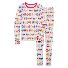 Cuddl Duds® 2-pc. White Owl Pajama Set - Girls 4-16