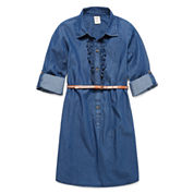 Arizona Long Sleeve Shirt Dress - Big Kid