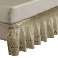 EasyFit Wrap-Around Eyelet Ruffled Bedskirt