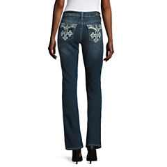 Love Indigo Cross-Back Flap-Pocket Jeans