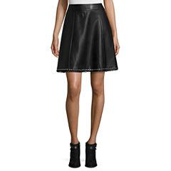 Worthington® Faux-Leather Eyelet-Hem Skirt - Tall