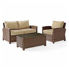 Bradenton Wicker 3-pc. Patio Lounge Set