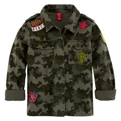 AZ MILITARY SHIRT JACKET - GIRLS' 7-16 & PLUS