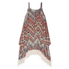 Knit Works Sleeveless Print Hanky Dress - Girls' 7-16