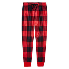 Arizona Husky Boys Red Buffalo Print Jogger Sleep Pant - Big Kid