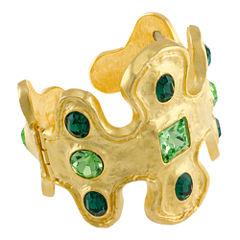 KJL by KENNETH JAY LANE 22K Gold-Plated Crystal Cuff