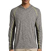 Union Bay® Long-Sleeve Tucker Raw Jersey Hoodie