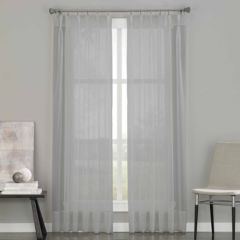95 inch silver sheer curtains for window - jcpenney