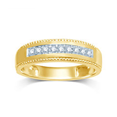 Mens 1/5 CT. T.W. Diamond 14K Yellow Gold Band